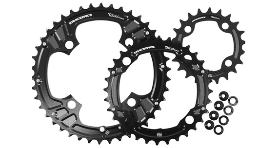 Race Face Turbine Chainring Set 4 Bolt 22/32/42 3x10 Speed schwarz